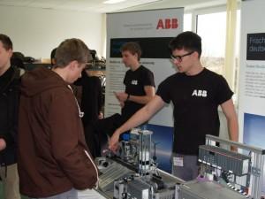 Informationsstand des Unternehmen ABB
