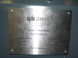 """""""House of Automation""""-Label"""
